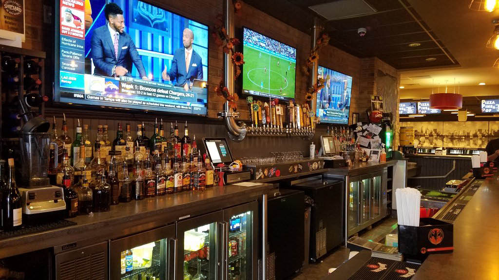 Bar area at Big Ed's Tap House & Grill located in Circle Bowl in Ledgewood NJ