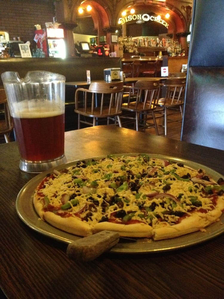 Delicious pizza and beer from Bison Creek Pizza & Pub in Burien, WA - pizza restaurants in Burien - Burien pizza restaurants