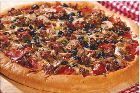 Deals on Deep Dish Pizza with black olives in Long Beach
