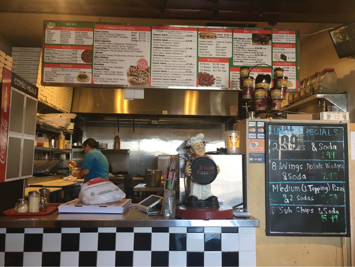 Chef working hard at B Jojo's Pizzeria near Harte, CA