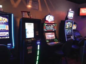 Velasquez Gaming machines at Black Oak Grill