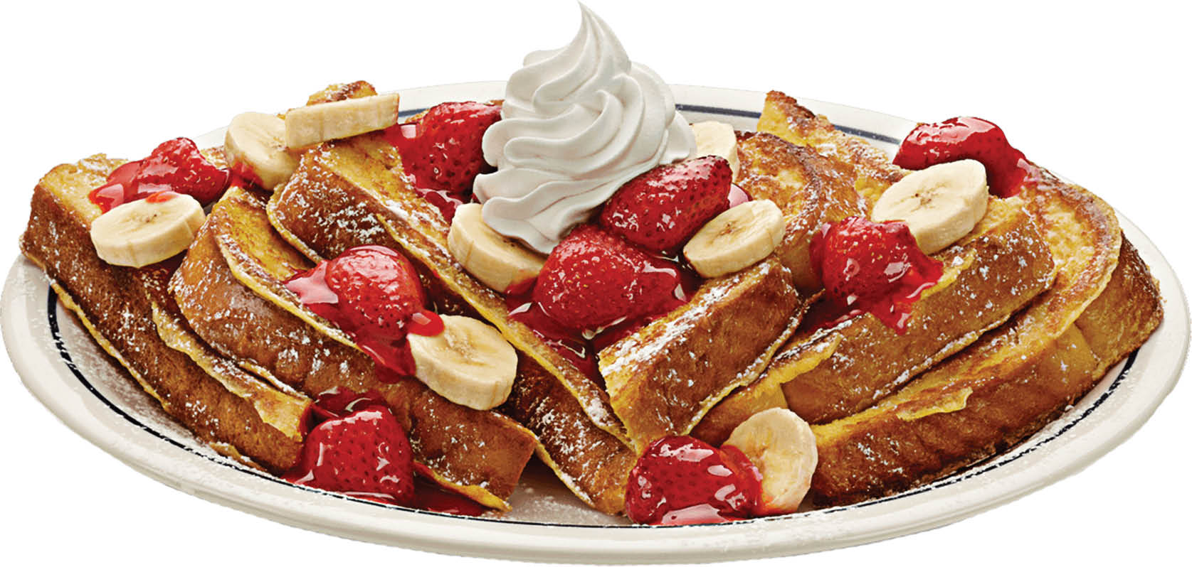 Strawberry French Toast served at Black Oak Grill.