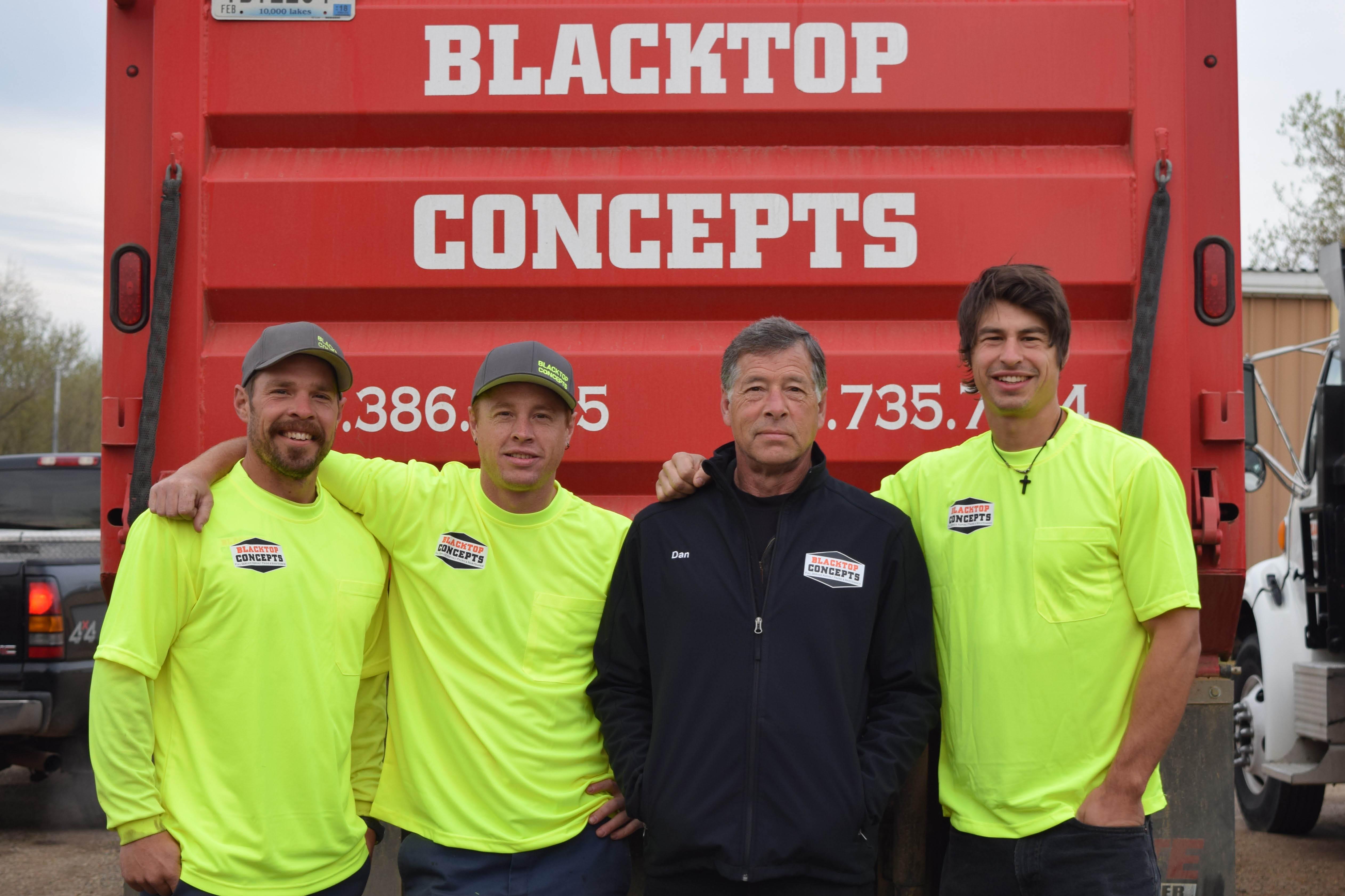 New Asphalt Driveway team at Blacktop Concepts