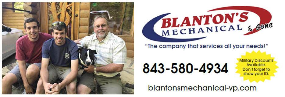 Blanton's Mechanical in Ravenel, SC Banner ad