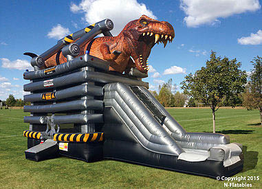 Blue Sky Inflatables Dino Bounce House in Kenosha County