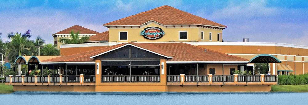 Exterior Restaurant View Bokampers Sports Bar & Grill in Miramar, FL Banner
