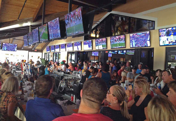 Bokampers Sports Bar interior restaurant