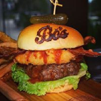 Branded burger with bacon near Pembroke Pines