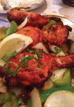 Tandoori chicken Indian chicken platter