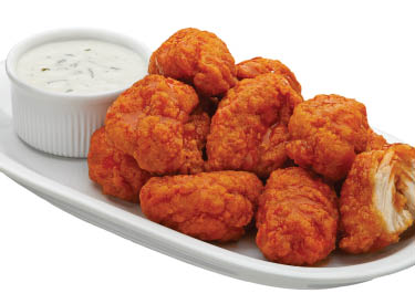 boneless wings with dipping sauce