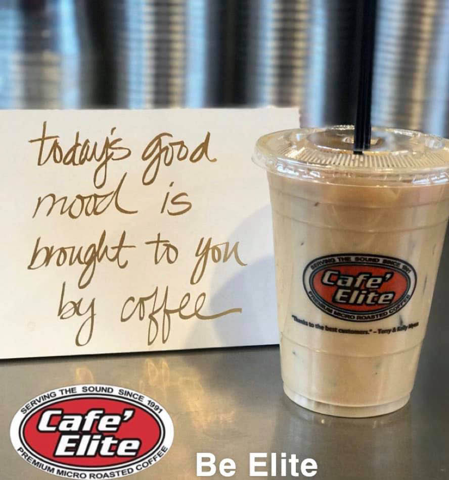 Cafe Elite Coffee Co. - Bonney Lake, WA - Today's good mood is brought to you by coffee - Bonney Lake espresso stands near me - Bonney lake coffee stands near me - espresso stand coupons - coffee stand coupons