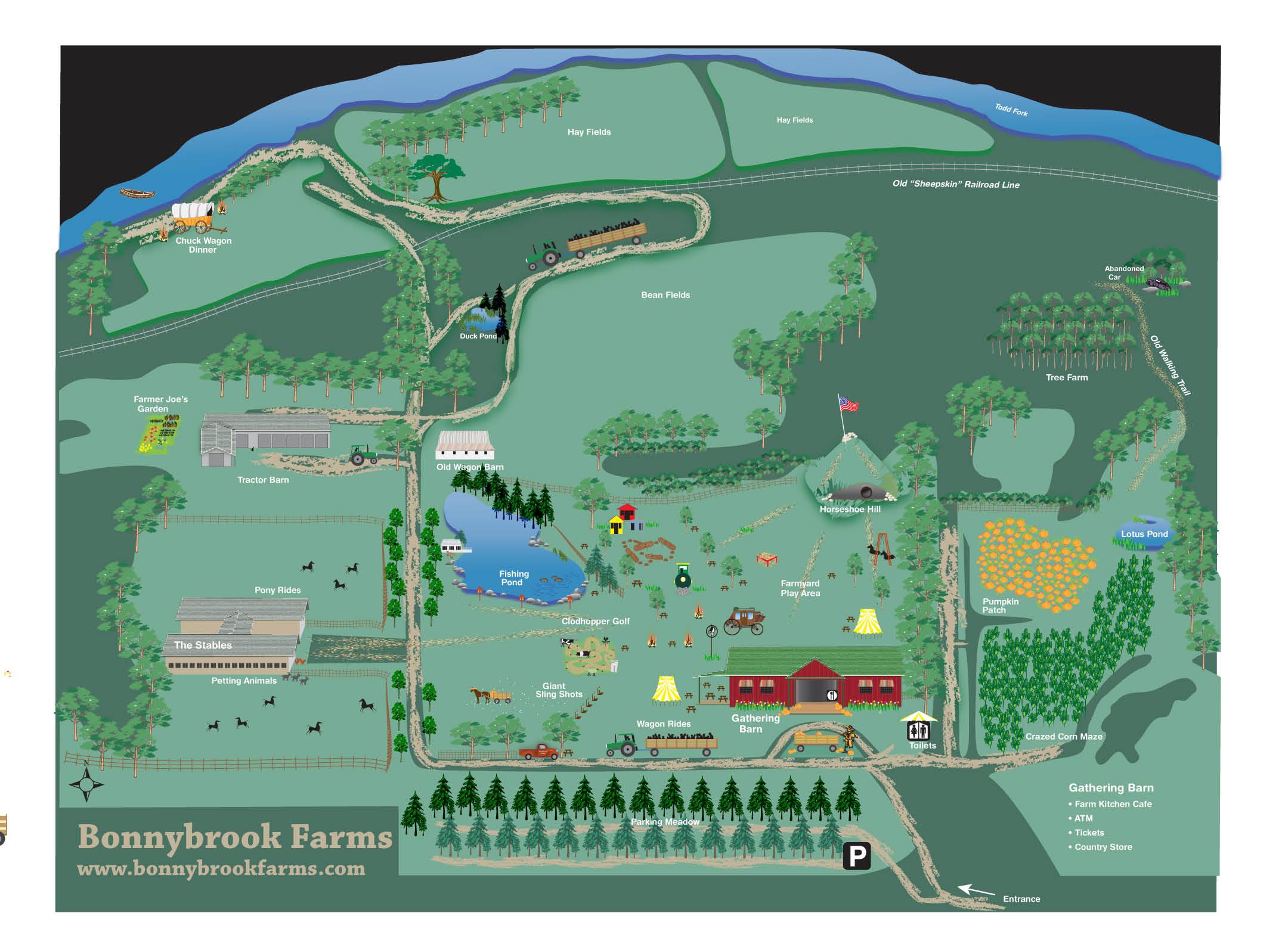 bonnybrook farm map clarksville ohio