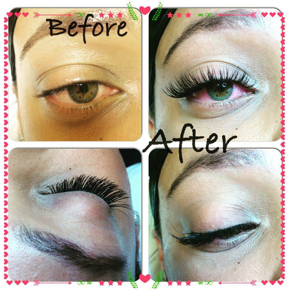 Gloss Eyelash Extension - Before and after photos of eyelash extensions - Bothell, WA