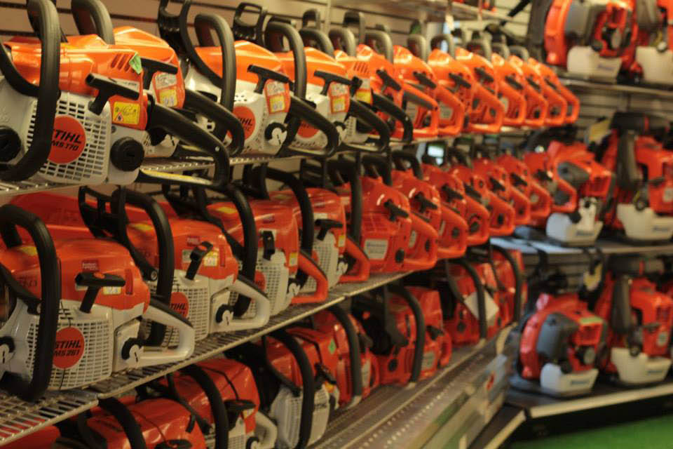 Brandman's carries Stihl products including chainsaws