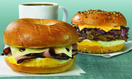 Breakfast-Sandwich-with-Meat-Manhattan-Bagel