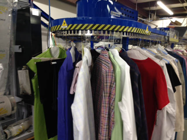 Dry cleaner; laundry rack in Columbia, South Carolina