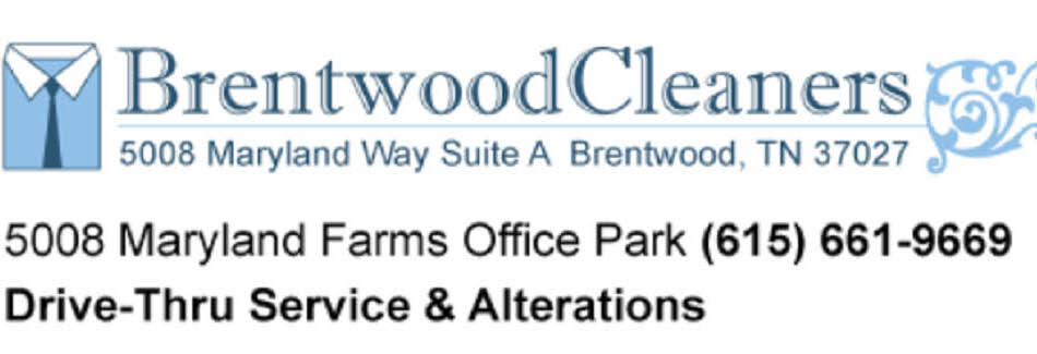 Brentwood Cleaners in Brentwood TN banner