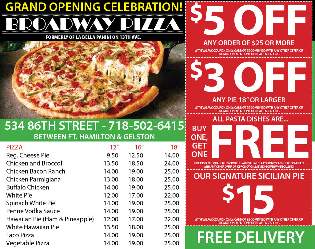 Take a look at our Pizzas, Subs, Salads and More!