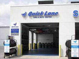 photo of service bay at Quick Lane Tire & Auto Center at Brondes Ford in Toledo, OH