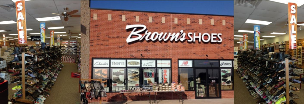 Brown's Shoe Fit Co. in Ankeny, Iowa banner