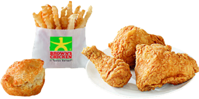 browns chicken combo meal