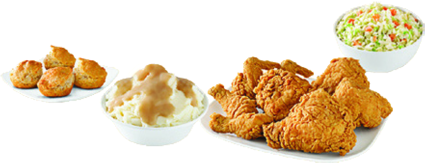 fried chicken with southern style sides