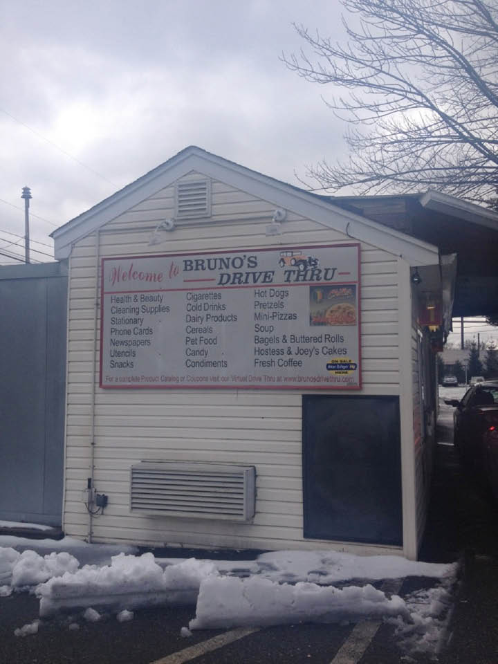 No need to get out of your car to get items at Bruno's Drive Thru in Pequannock NJ