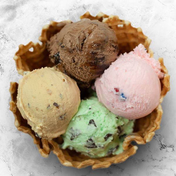 Bruster's Real Ice Cream, waffle cone, dessert, flavors