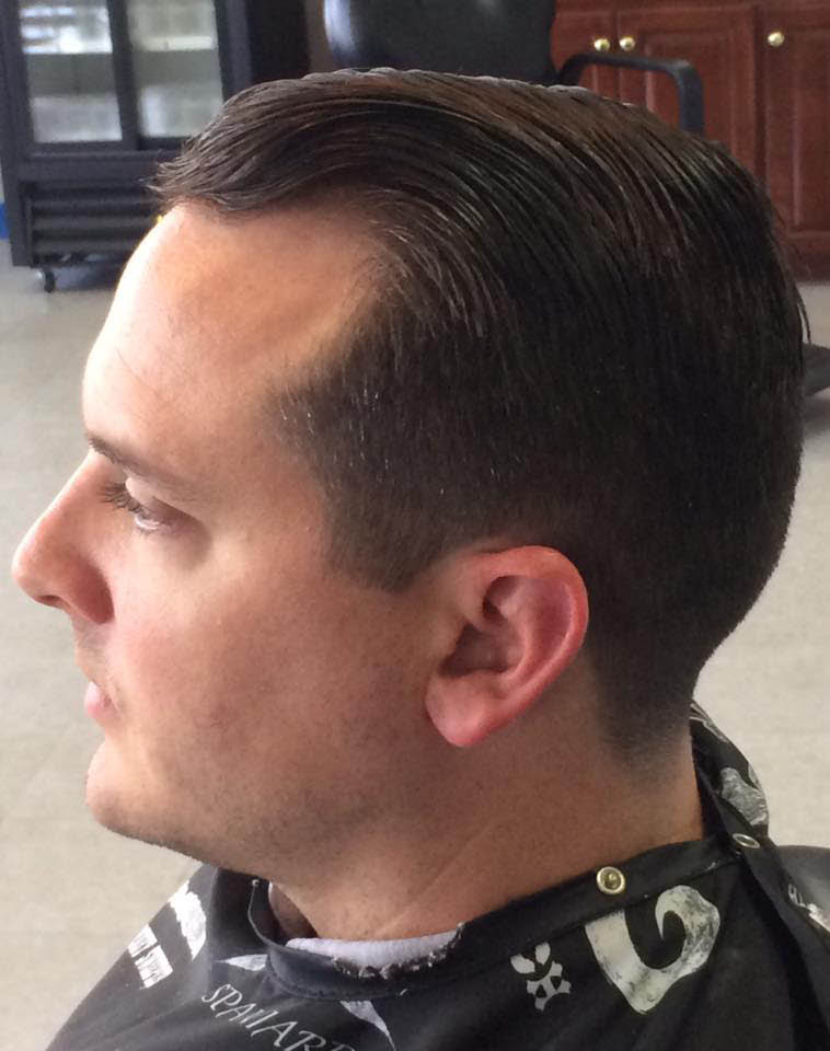 Modern men's haircut and style