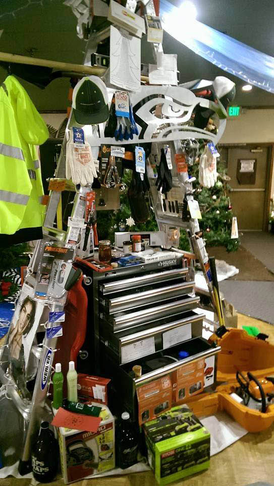 The famous man tree at the Buckley Chamber annual Christmas tree auction - Buckley, WA