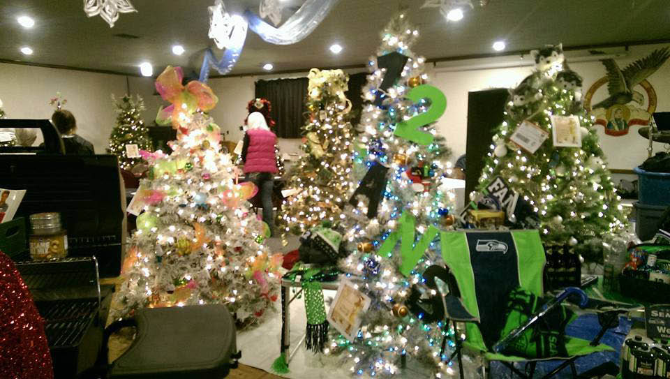 Buckley Chamber annual Christmas tree auction - Saturday, December 2 - 5:00pm-11pm - at Buckley Eagles