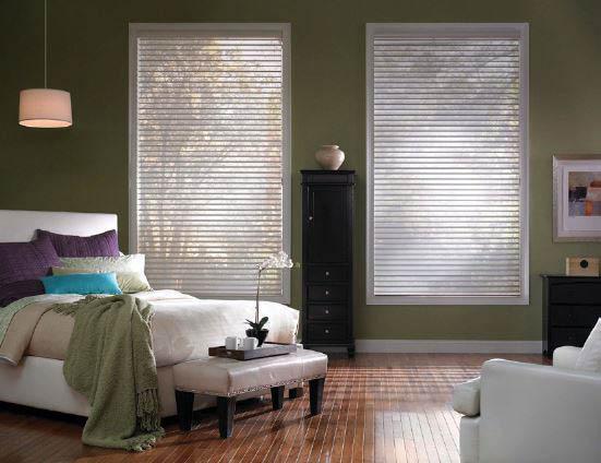 Budget Blinds bedroom blinds with custom drapes - customize everything to match - Marysville, Washington - window shadings