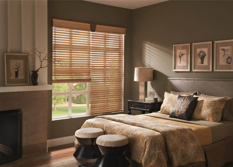 White wood blinds for kitchenette windows in Colorado