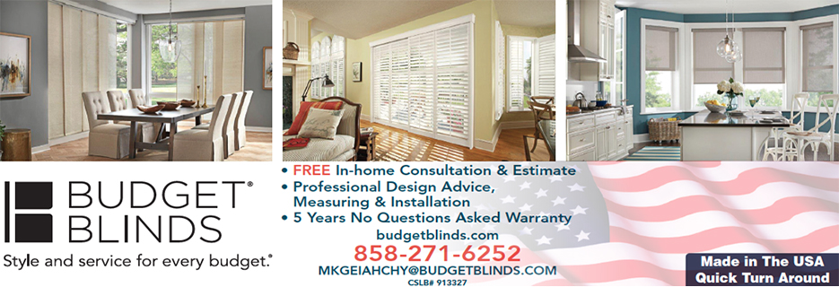 Budget Blinds in San Diego, California banner
