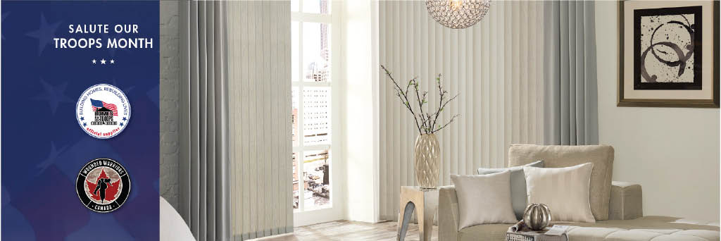 Vertical window treatments from Budget Blinds