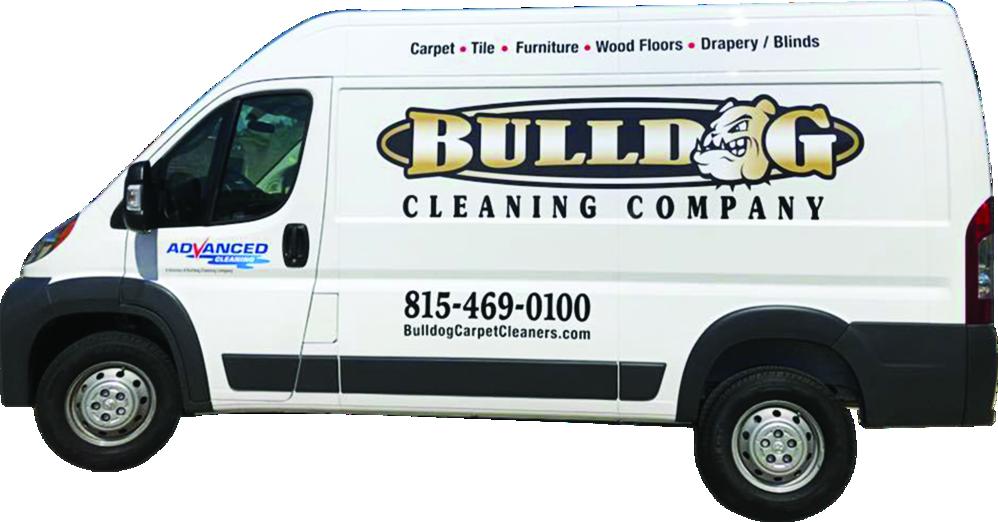 bulldog carpet cleaning company van