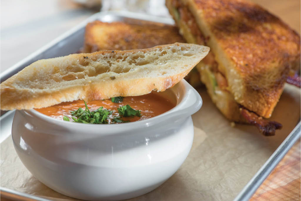 Grilled cheese sandwich and soup from Burche Burgers in Bonney Lake, WA - Bonney Lake restaurants