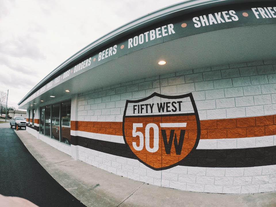 fifty west burger bar cincinnati ohio