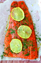 salmon with lemon and parsley
