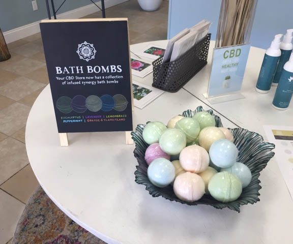 CBD bath bombs and topical lotions
