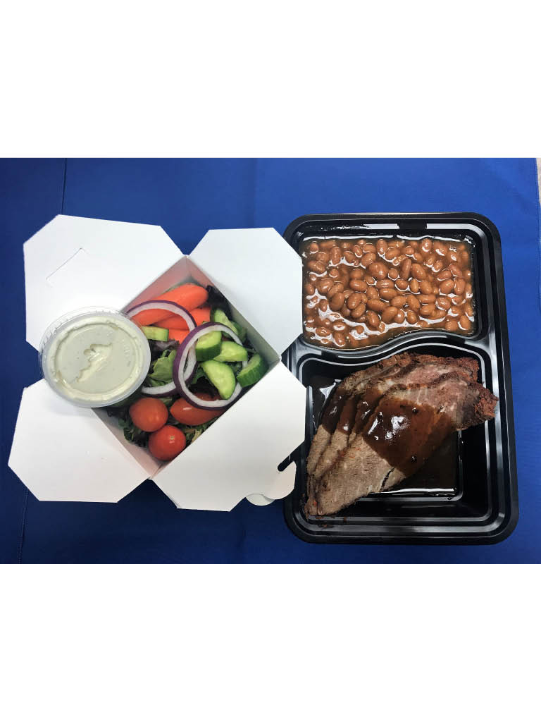 Boxed meal from California's Best Catering and Events; San Diego caterers