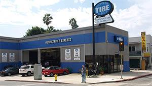 Exterior of California Tire and Service - 10950 W. Pico Blvd. in LA