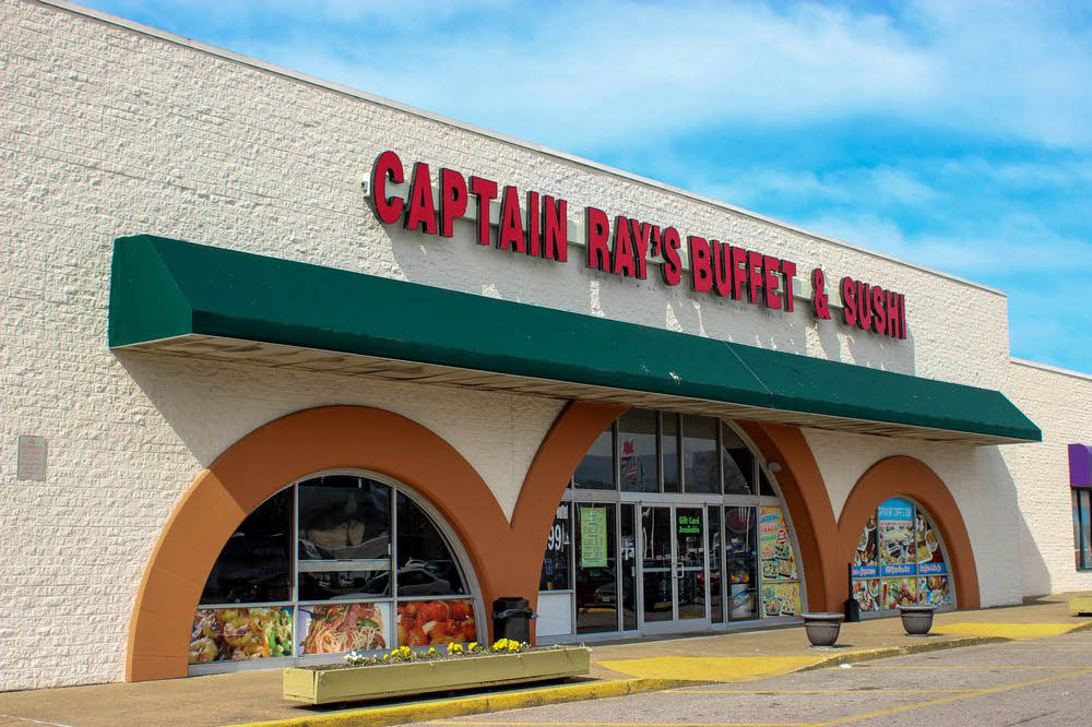Captain Ray's Store Front at 5957 E. Virginia Beach Blvd., Norfolk, Virginia
