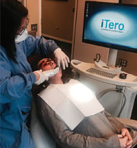 We use the latest dental technology including our iTero scanner