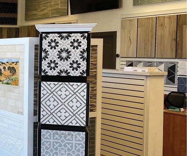Showroom tiles at CTW Designs Inc in Novato