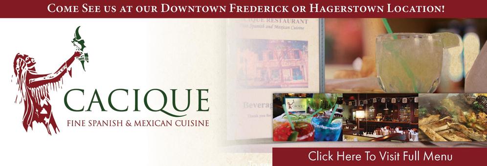 Cacique Restaurant banner Hagerstown, MD