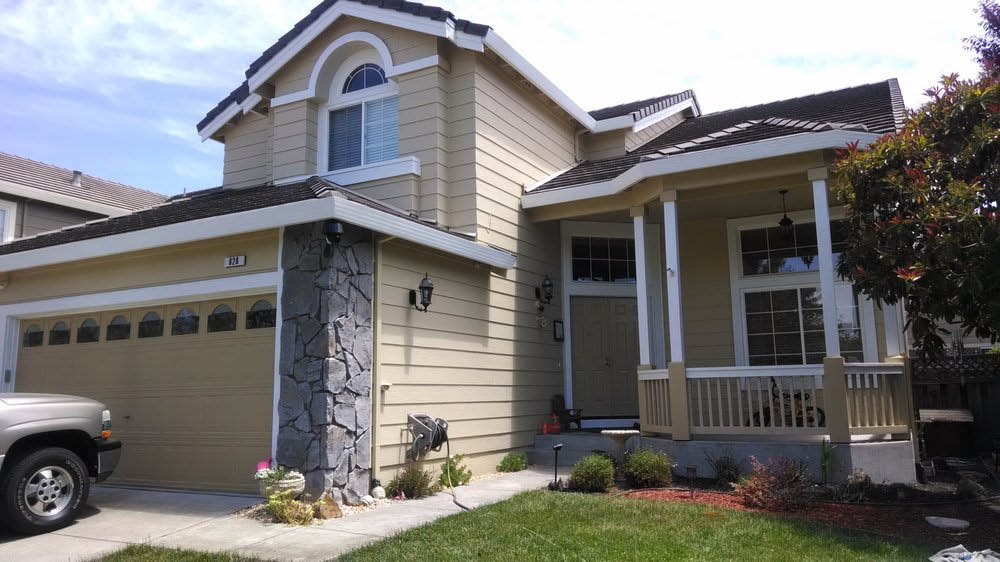 Beige home exterior painting by Cal Flo, Petaluma