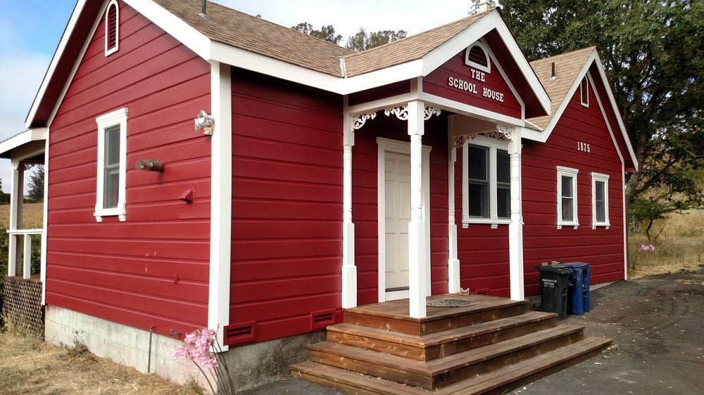 Cal Flo Painting in Petaluma, CA red building exterior painting
