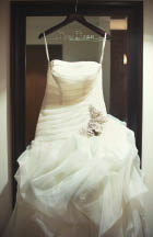 Wedding gown preservation at dry cleaners