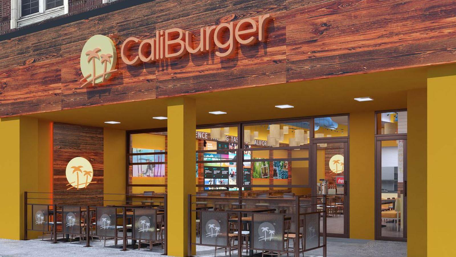 Exterior of CaliBurger in Seattle, Washington